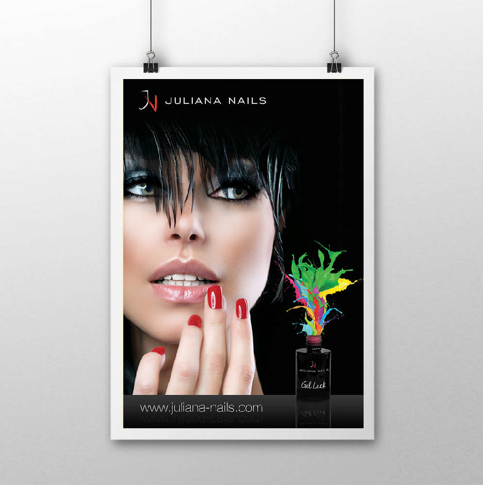 DIVA Design - Juliana Nails poster, plakat, visual identity, branding