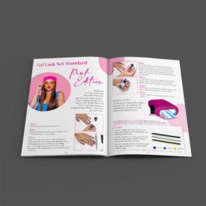 DIVA Design - brochure design, layout design, magazine layout, katalog, Juliana Nails